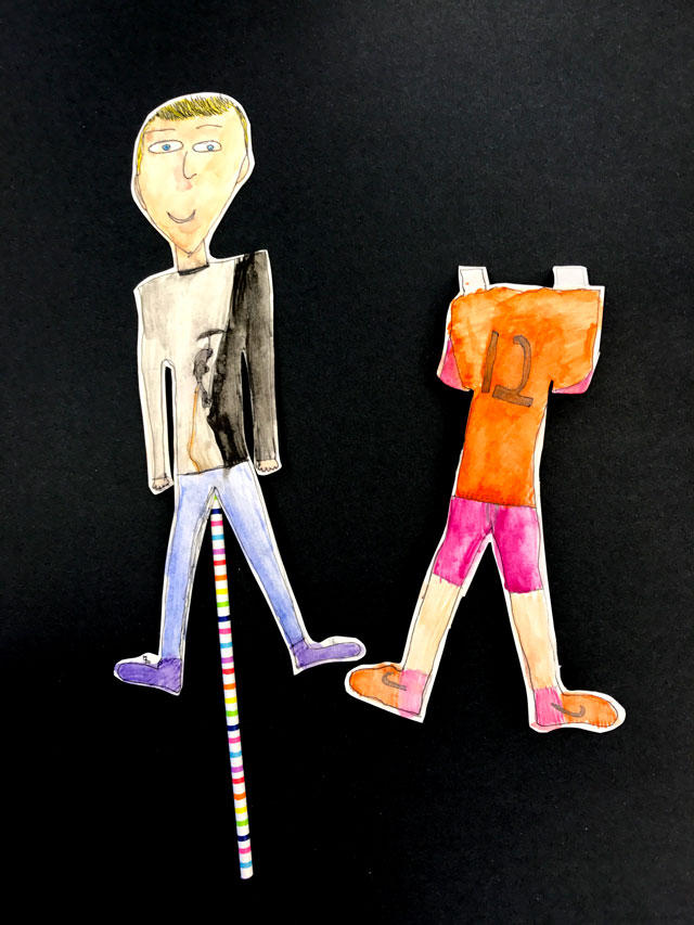 Paper Characters // www.smallhandsbigart.com
