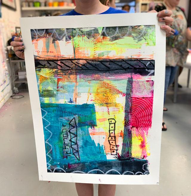 Abstract Scraper painting / Small Hands Big Art