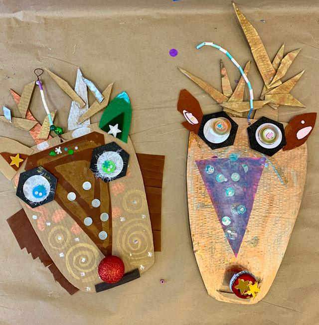 cardboard reindeer