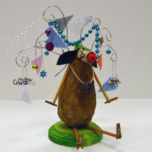 Papier Mache Reindeer Craft