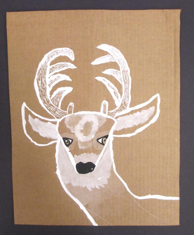 monochromatic deer